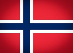 Stock Illustration of flag of norway vignetted