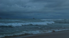 Clouds above a beach in Umhlanga Stock Footage