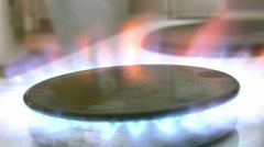 Gas Stove - stock footage