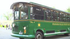 Niagara Falls state park transportation bus Stock Footage