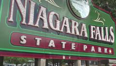 Niagara Falls state park sign Stock Footage