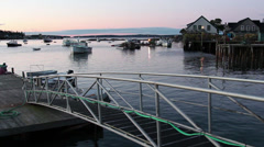 Dawn at Bass Harbor, Maine Stock Footage