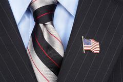 American flag lapel pin Stock Photos