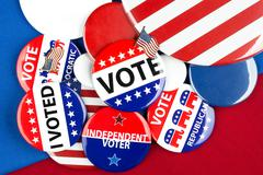 Collection of vote badges Stock Photos