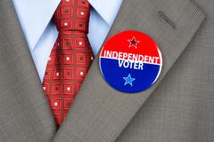 independent voter pin - stock photo