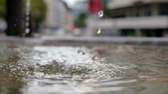 fountain close-up Zurich - stock footage