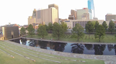 Oklahoma City Bombing Memorial Aerials - stock footage