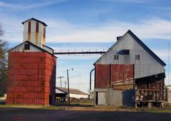 Old cotton gin in the south - stock photo