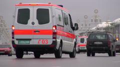 Ashgabat avenues Stock Footage