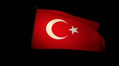 Flag Turkey 01 Stock Footage