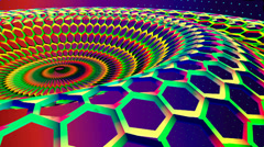 Periodic abstract honeycomb background Stock Footage