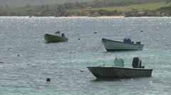 Small boats floating Stock Footage
