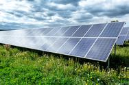 Stock Photo of solar energy panels