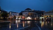 Stock Video Footage of athens - city square night - HD