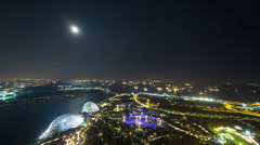 GARDENS By the Bay MOONRISE Singapore Stock Footage