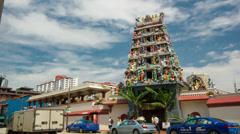Timelapse of Hindu Temple, Singapore Stock Footage