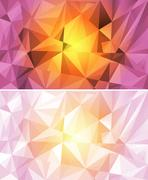 Polygon Abstract Background Stock Illustration