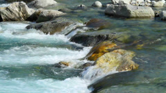 Cascade  on the mountain river.+sound Stock Footage