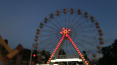 Abstract Ferris Wheel at amusement park Stock Footage