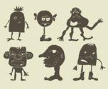 Stock Illustration of set of funky monsters