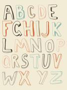 Funky alphabet Stock Illustration