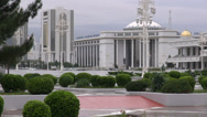 Stock Video Footage of Buildings in Ashgabat, Turkmenistan