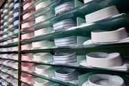 Stock Photo of shelf with shirts in store