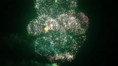Multiple fireworks explosion FullHD Stock Footage