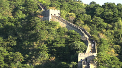 Zoom out from the great wall Stock Footage