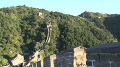The Great Wall on a sunny day Stock Footage