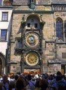 Astronomical clock at old town square in prague czech republic Stock Photos