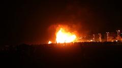 Bonfires of Saint John in Spain Stock Footage
