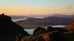 Timelapse of dawn over Skye Stock Footage