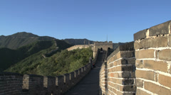 Pan from the great wall to the mountains Stock Footage