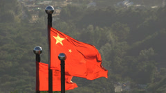 Chinese flags Stock Footage