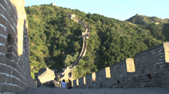 Pan to the great wall Stock Footage