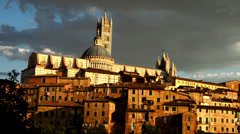 Siena view of the cathedral Stock Footage