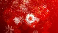 Snowflake holiday background 4 Stock Footage