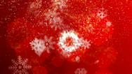 Stock Video Footage of Snowflake holiday background 4