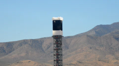 Ivanpah Solar Tower Project - Mojave Desert - stock footage