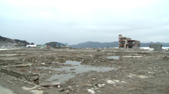 Japan Tsunami of 3-11 2011 - stock footage