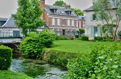 Stock Photo of picturesque village of Ry in Seine Maritime