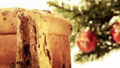 Panettone christmas cake Stock Footage