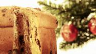 Stock Video Footage of panettone christmas cake
