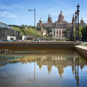 national museum in barcelona, spain - stock photo