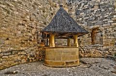 Perigord, the picturesque castle of Castelnaud in Dordogne - stock photo