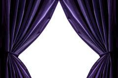 Violetti verhot eristetty valkoinen Kuvituskuvat