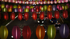 Lanterns in Chinatown Singapore, time-lapse Stock Footage