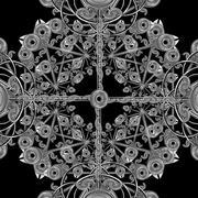 digital ornament crafts - stock illustration
