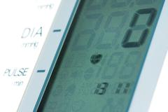 display of automatic digital blood pressure monitor - stock photo
